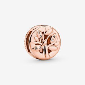 Pandora Silver Sparkling Family Tree Clip Charm